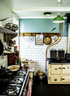 blue wall - kitchen      [hugo & elsa: When Katie came to visit ]