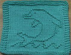 Baby Knitting Patterns Dishcloth Ravelry: Dolphin Dishcloth pattern by Lisa Millan Knitted Dishcloth Patterns Free, Knitted Washcloths, Crochet Dishcloths, Baby Knitting Patterns, Stitch Patterns, Crochet Patterns, Knitting Blocking, Knitting Squares, Knitting Charts