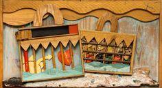 «Δυο βαλίτσες» του Ακριθάκη Local Color, Greek Art, Color Of Life, Modern Art, Art Projects, Wood, Frame, Artwork, Artist