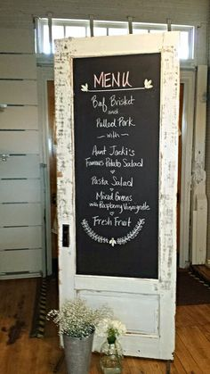 Mountain Wedding Depot ~ Chalkboard Door M.