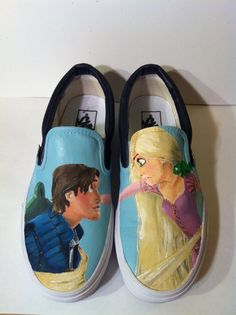 Hand Painted Disney's Tangled Vans by hayleykayarts on Etsy Disney Shoes, Disney Outfits, Cute Outfits, Disney Fashion, Disney Vans, Disney Nerd, Fashion Fashion, Runway Fashion, Fashion Trends