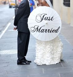 """Just Married"" Parasol"
