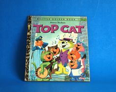 Hanna Barbera Top Cat Story Book - Little Golden Books - 1974 - Retro Vintage Children TV Cartoon Hardcover by FunkyKoala on Etsy Hanna Barbera, Little Golden Books, Great Stories, Cats, Illustration, Prints, Top, Barbers, Gatos