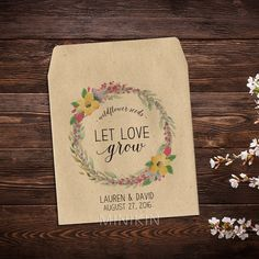 Wedding Seed Packets Seed Packet Favors Flower by MinikinGifts
