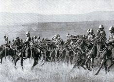 Dundonald's Cavalry on the way to Potgieter's Drift before the Battle of Spion Kop on January 1900 in the Boer War British Soldier, Zulu, Victorian Era, South Africa, Battle, Moose Art, War, Soldiers, Period