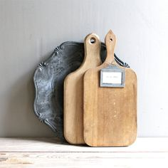 Vintage Pair Cutting Boards by lovintagefinds on Etsy, $55.00