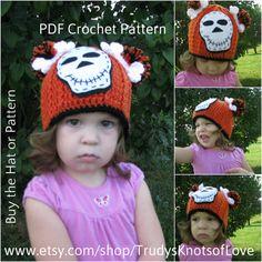 Crochet Skull HatSkeleton BeanieCrochet by TrudysKnotsofLove