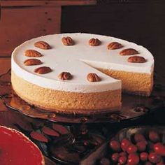 Pumpkin Cheesecake  this is really good, and I usually don't like pumpkin