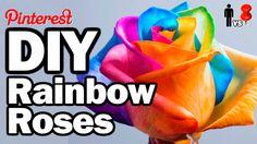 DIY Rainbow Roses - Man Vs. Pin #26