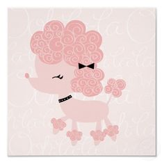 Cartoon French Poodle Children's Wall Art Posters by heartlocked