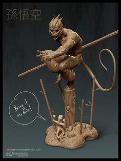 Sun Wukong | Monkey King wip 4 by Nero-tbs.deviantart.com on @deviantART