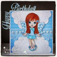 LTC StampArt Designs by Kathryne - Sapphire Sapphire, Fairy, Kitty, Female, Sweet, Cards, Design, Products, Little Kitty