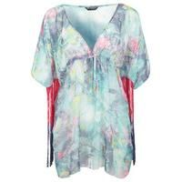 Beautiful top and only size Medium left.  Go get one NOW! Marble Print Fringe Kimono at Miss Selfridge