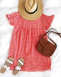 The perfect little weekend dress! I've been loving gingham lately and this option is just too cute! It has the cutest ruffle sleeves, a sweet bow in the back and is super comfy for Saturday errands and brunch! The best part? It's only $17 and comes in 3 colors Screenshot or 'like' this pic to shop the product details from the new LIKEtoKNOW.it app, available now from the App Store! http://liketk.it/2rJ6m @liketoknow.it #liketkit