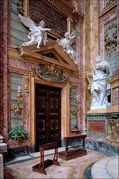 Roma, via del Corso: chiesa dei Santi Ambrogio e Carlo al Corso (Onorio Longhi, Martino Longhi il Giovane, Pietro da Cortona, 1612-69)
