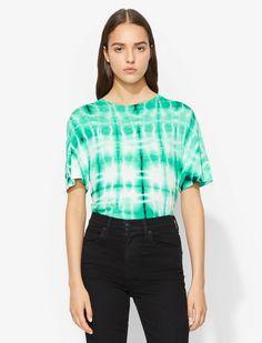 Proenza Schouler Tie Dye T-Shirt malachite/white/blk/green XS Latex Fashion, Emo Fashion, Fashion Tips, Tie Dye T Shirts, Gothic Dress, Men Style Tips, Proenza Schouler, Printed Shirts, Fashion Design