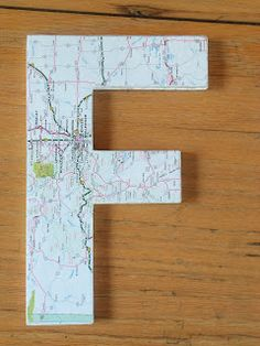 map covered letter------------------------live. love. scrap.