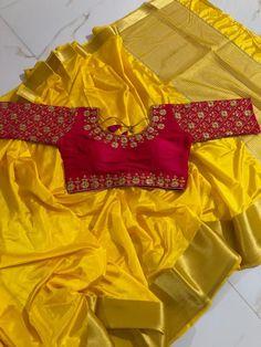 Wedding Saree Blouse Designs, Pattu Saree Blouse Designs, Designer Blouse Patterns, Fancy Blouse Designs, Choli Designs, Wedding Sarees, Bridal Lehenga, Hand Work Blouse Design, Stylish Blouse Design