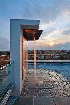 Outdoor rinse shower for pool on rooftop ITCHBAN.com // Architecture, Living Space & Furniture Inspiration #09