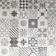 """Tiles about compositions of """"Cementine"""" category, available in single section or in patchwork. A gallery show different uses of them."""