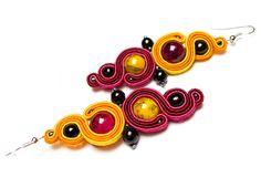 Sutasz-Anka: Kamala- earrings http://www.soutage.com/2012/06/kamala-kolczyki.html