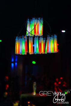 glow in the dark centerpieces       Designs   My Parties  Ryan s Glow    Glow In The Dark Centerpieces