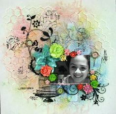 Scrapbooking Mixed Media Layout