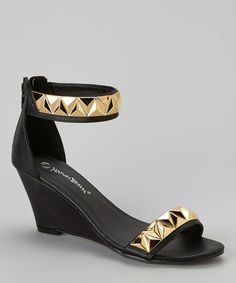 $18.99 (This Event ends in 2 - Days, 23 hours) Look what I found on #zulily! Black Studded Denver Wedge Sandal http://www.zulily.com/?SSAID=930758&tid=acceleration_930758 #zulilyfinds