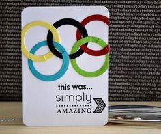 A card for a pocket page scrapbook that was inspired by the Olympics. This was created entirely with steel dies and stamps from TechniqueTuesday.com. Click on the photo to got the post with the how-to (photos included).