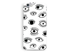 iPhone 6 Case, Eyes Pattern iPhone 6 case, iPhone 6 Cover, Eye pattern, case for iphone6, monochrome iphone case, gifts for her, gift ideas de TheSmallPrintCases en Etsy https://www.etsy.com/es/listing/246664322/iphone-6-case-eyes-pattern-iphone-6-case