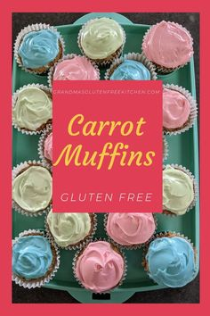 These are quick and flavorful muffins that are full of spice and have a lovely texture that everyone will enjoy. #glutenfreebaking #glutenfreemuffins #glutenfreecarrotmuffins #carrotmuffins Gluten Free Kitchen, Gluten Free Baking, Easy Gluten Free Desserts, Gluten Free Recipes, Gluten Free Carrot Muffins, Glutinous Rice Flour, Sorghum Flour, Food Processor Recipes, Carrots