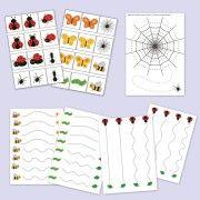 Játékos ovis feladatok bogárkákról, lepkékről, hernyókról: http://webshop.jatsszunk-egyutt.hu/shop/bogarak-jatekcsomag/