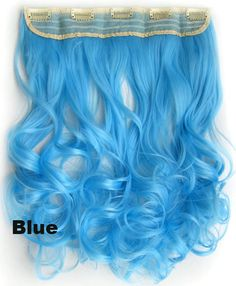 "Clip in on long wavy curl full head set synthetic hairpieces Heat resistance synthetic hair extension 130g ,24"",1pc"