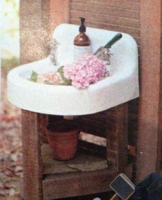 Vintage Outdoor Sink Outdoor Spaces Outdoor Sinks