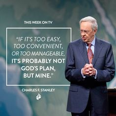 God is the One who is orchestrating what's going on in each person's life, and He knows what it's going to take to make them the person He wants them to be. He knows what it will take to equip each person to be able to serve Him the way He wants them to serve Him.  Watch Dr. Stanley's message at intouch.org/watch.