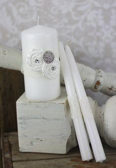 Embellished unity candle