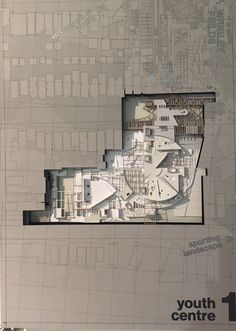 Architectural drawing/Model by a student from the Bartlett School of Architecture in London. Architecture Panel, Architecture Drawings, Architecture Portfolio, Architecture Design, Bartlett School Of Architecture, Plan Drawing, Drawing Tips, Arch Model, Plan Design