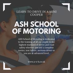 ASH School of Motoring is dedicated to the training of all our pupils to the highest standard of driver and road safety whether you are a complete novice, test failure, nervous driver or you are an advanced level.