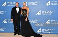 News Photo : Monaco's Prince Albert poses with Princess...