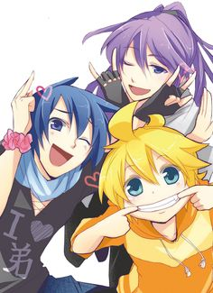 Len, Kaito, and Gakupo  kaito do you have  flowers on your wrist? Or a Schrunchie?