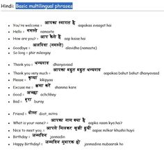 Common Hindi Phrases Learn English Grammar, Learn English Words, English Study, English Vocabulary, Good Morning In Hindi, Hindi Language Learning, Hindi Alphabet, Opposite Words, Hindi Worksheets
