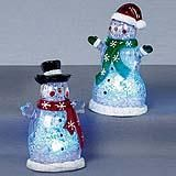 Snowman with Coloured Lights 12CM