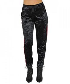 Γυναικεία Velvet φόρμα Coocu μαύρη με ρίγα 41596C #παντελονιαγυναικεια #women #womensfashion #womenswear Riga, Parachute Pants, Leather Pants, Velvet, Fashion, Leather Jogger Pants, Moda, Lederhosen, Fasion