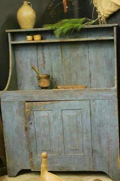 Lovin this dry sink! Primitive Cabinets, Primitive Furniture, Primitive Kitchen, Primitive Antiques, Country Furniture, Antique Furniture, Country Kitchen, Antique Dry Sink, Antique Cupboard