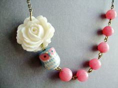 Darling Owl Necklace,Owl Jewelry $32.00, via Etsy.