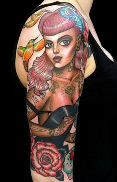 Inma Tattooartist - Tattooed Pin Up Girl Tattoo