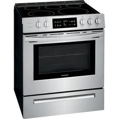 Frigidaire 5 Burners ft Self-Cleaning Slide-in Gas Range (Stainless Steel) (Common: Actual: at Lowe's. This model is similar to Lowe's Exclusive model # but has a stainless steel finish. Cleaning Oven Racks, Self Cleaning Ovens, Lac Saint Jean, Food Temperatures, Large Oven, Single Oven, Keep Food Warm, 5 Elements, Steel Manufacturers