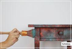 Efecto cobre oxidado, ultrarrápido y sencillo Cheap Art, Dixie Belle Paint, Country Art, Recycled Furniture, Felt Ornaments, Vintage Industrial, Chalk Paint, Altered Art, Wood Crafts