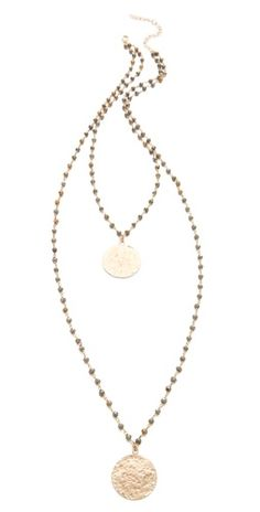 Heather Hawkins Hammered Coin Necklace | SHOPBOP | Use Code: INTHEFAMILY25 for 25% Off