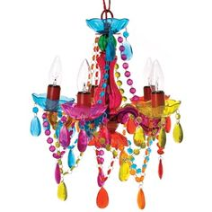 A best-seller, this Small Gypsy Chandelier Multicolored ($74.95) has flair, funk, color and glitz!         I LOVE this chandelier!!!